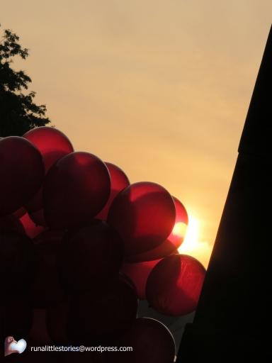 sunrise in balloon's eye